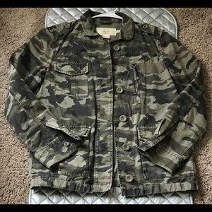 J Crew Classic Twill Chino Camo Jacket